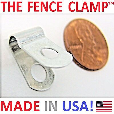 500X THE FENCE CLAMP - ALUMINUM CLIPS LOOPS = MOUNT WELDED WIRE TO ...