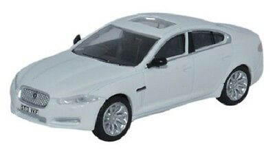 Jaguar XF British  White OO 1/76 Oxford Die-cast 76XF005