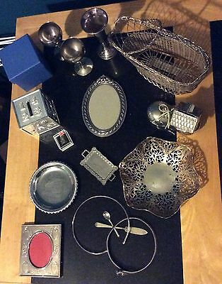 Joblot of silver plated items old & collectables