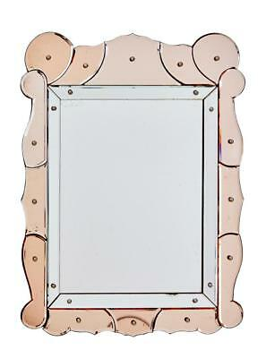 1960's FRENCH PEACH SEGMENTED MIRROR