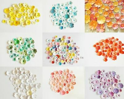 Mixed Flower Card Embellishments Toppers Scrapbooking Paper Craft Supplies