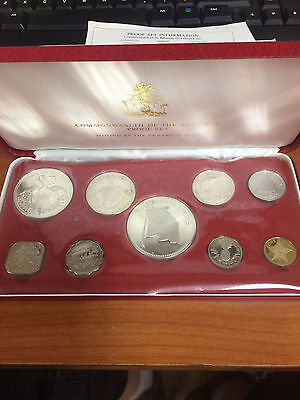 Franklin Mint 1974 Commonwealth of The Bahamas 9 Coin Proof Set w/ COA