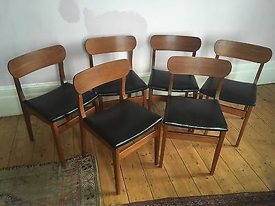Set Of 6 Teak Chairs- Vintage- Retro - Mid Century