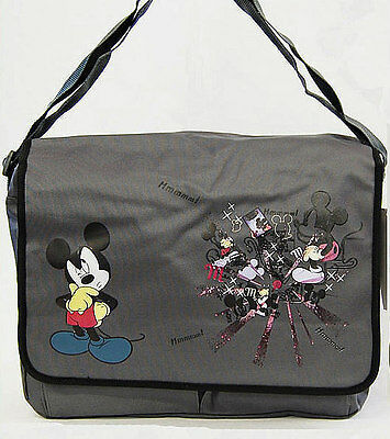 Gray Disney MICKEY MOUSE Large MESSENGER SHOULDER BAG School Travel TOTE NEW!