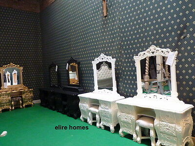 Silver Leaf  Rococo Dressing Table + mirror & stool ...... for rococo french bed