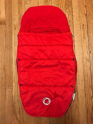 Pre-owned Bugaboo Stroller Footmuff RED Fits ALL Warm