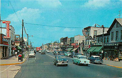 Businesses, Auto's & Stores on Main Street ~BELMAR NJ~ Scarce Old View, c. 1955