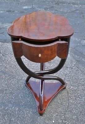 -SENSATIONAL walnut Thonet art Deco style  side table