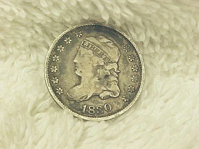 1830 Capped Bust  silver  half dime  F/vf