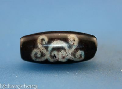 30*13 mm Antique Dzi Agate old    cinnabar Bead from Tibet *Free shipping*
