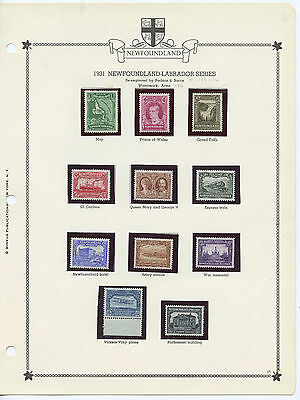 Newfoundland 172-182 Fresh MH/NH set, Watermarked Second Pictorial issue CV $242