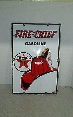 Texaco Fire - Chief gasoline porcelain sign