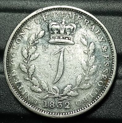 1832 Suriname Guiana Essequibo&demerary Guider Silver Coin Low  Mint 47.000