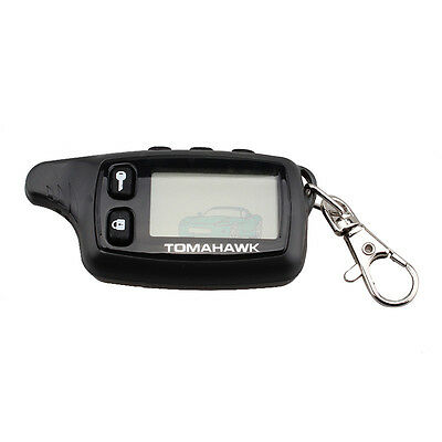 1xLCD Remote For Tomahawk TW9010 9010 Two Way Auto Alarm System Russian Keychain
