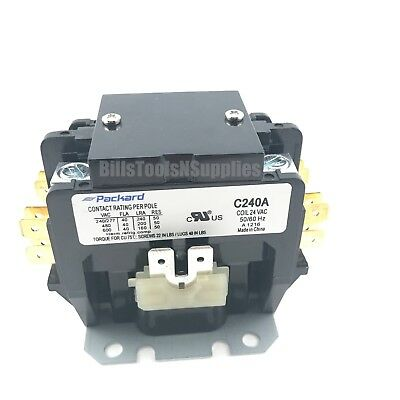 Packard C240A 2 Pole 40 Amp 24 Volt Coil Contactor
