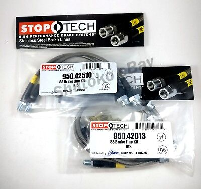 STOPTECH SS FRONT + REAR BRAKE LINE KIT FOR 89-98 NISSAN 240SX w/ 300ZX CALIPERS