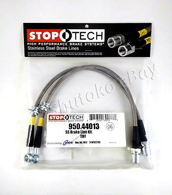 Stoptech Stainless Steel Rear Brake Lines For 89-98 Nissan 240SX S13 S14 Silvia