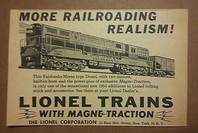 1954 Lionel Train with Magne Traction Railroad Toy Ad