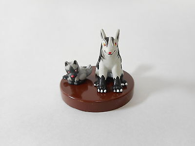 Pokemon Tomy Zukan Mightyena Poochyena 1/40 cale Figure Yujin Toy Rare Japan