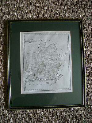 John Cary Original Antique Map Monmouthshire 1787, mounted and framed