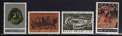 GRECIA/GREECE 1966 MNH SC.855/858 Greek Theater **
