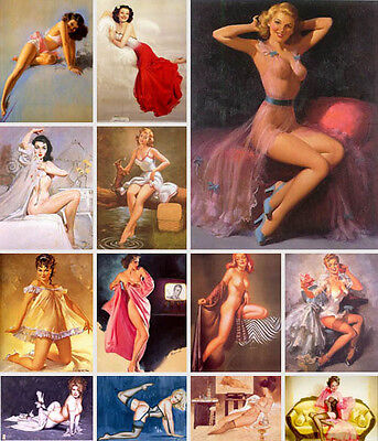 Pin Up Art Vintage Pictures Photos Clip Art on CD