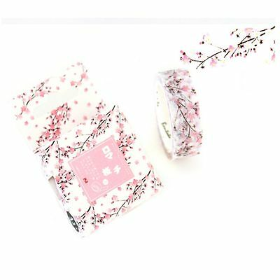 15MM*7M Adhesive Masking Sticker Washi Tape Scrapbooking Label Romantic Sakura