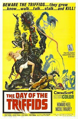 The Day Of The Triffids Sci-Fi Film Vintage Cinema Movie Poster Print Picture A4