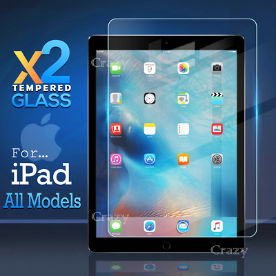 2X Tempered Glass Screen Protector Apple iPad 3 4 5 6 Air 1 2 Mini 1 2 3 4 Pro