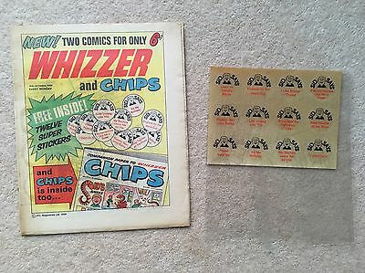 WHIZZER and CHIPS  #1 comic with Free gift! - 18th October 1969