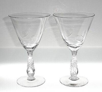 "Nancy Prentiss ENCHANTING ORCHID 7"" Water Goblets, Set of 2"