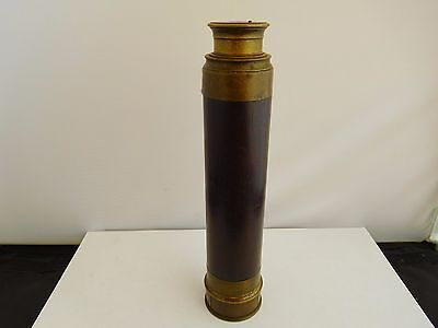 Antique (19Th Century) 4-Drawer  Lacquered Brass Telescope (Navy ??)