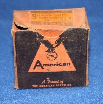 Vintage American Screw Co Box with 3/8 Pan Heads