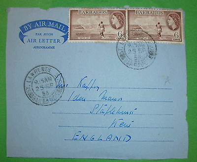 BARBADOS 5 Briefe Covers Lettres - Motive (10 Foto)(33762-37766)