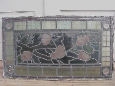 An Antique Stained Glass Window Panel Arts & Crafts