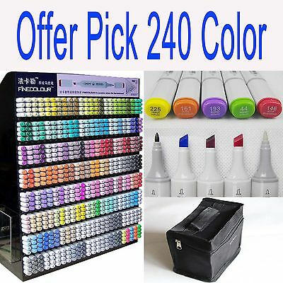6 24 36 48 60 72 192 240 Color Finecolour Sketch Marker Pen Twin Tip EF100 A036