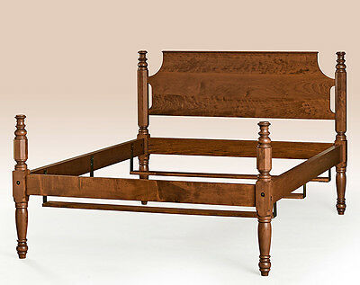Cherry Wood Full Size Bed Frame Antique Style Bedroom Furniture American  Made - CANNONBALL BED FRAME - Full Size - Antique Style Bedroom Furniture
