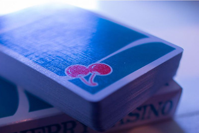 Cherry Casino Playing Cards (Blue) V3 By Morales & Devins #Cardistry #Magic