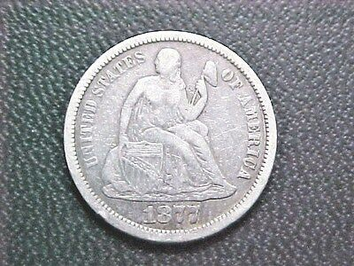 1877 CC Seated Liberty Dime..Affordable VF Grade