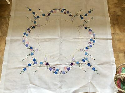 Hand Embroidered Vintage Tablecloth ( Lot B)