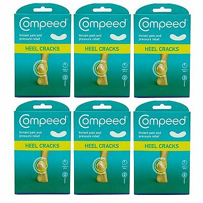 Compeed Cracked Heel Plasters Instant Pain and Pressure Relief 1,2,3 or 6 Packs