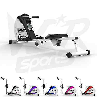 Rowing Machine Body Tonner Home Rower Fitness Cardio Workout Weight Loss - Black