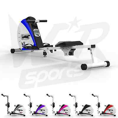 Rowing Machine Body Tonner Home Rower Fitness Cardio Workout Weight Loss - Blue