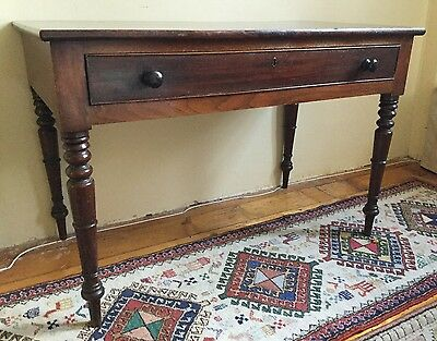 Good Antique Victorian Solid Walnut Mahogany Sideboard Table