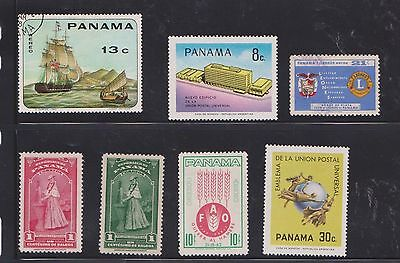 (U22-31) 1940-60 Panama mix of 7stamps value to 30c (I)