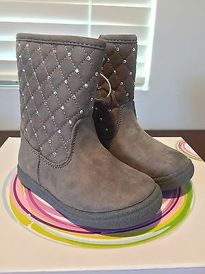 87a89ea0a New Piper Toddler Girl's Scrat Boot Gray Suede Shoes Size 6 Jewel