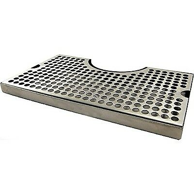 "1 X 12"" Surface Mount Kegerator Beer Drip Tray Stainless Steel Tower Cut Out ..."