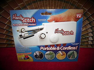 Portable Stitch Sew Handheld Sewing Machine Handy Cordless Clothes Repair