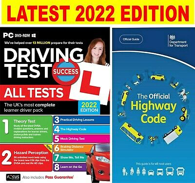 2019  Driving Theory Test & Hazard CD Rom DVD & Highway Code Book...V1
