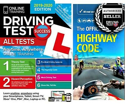 2017/2018 Driving Theory Test & Hazard test CD Rom DVD Highway Code Book Car,llj